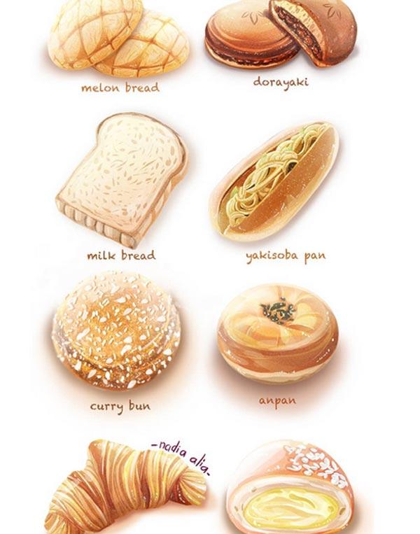 Food illustrations by Nadia Alia