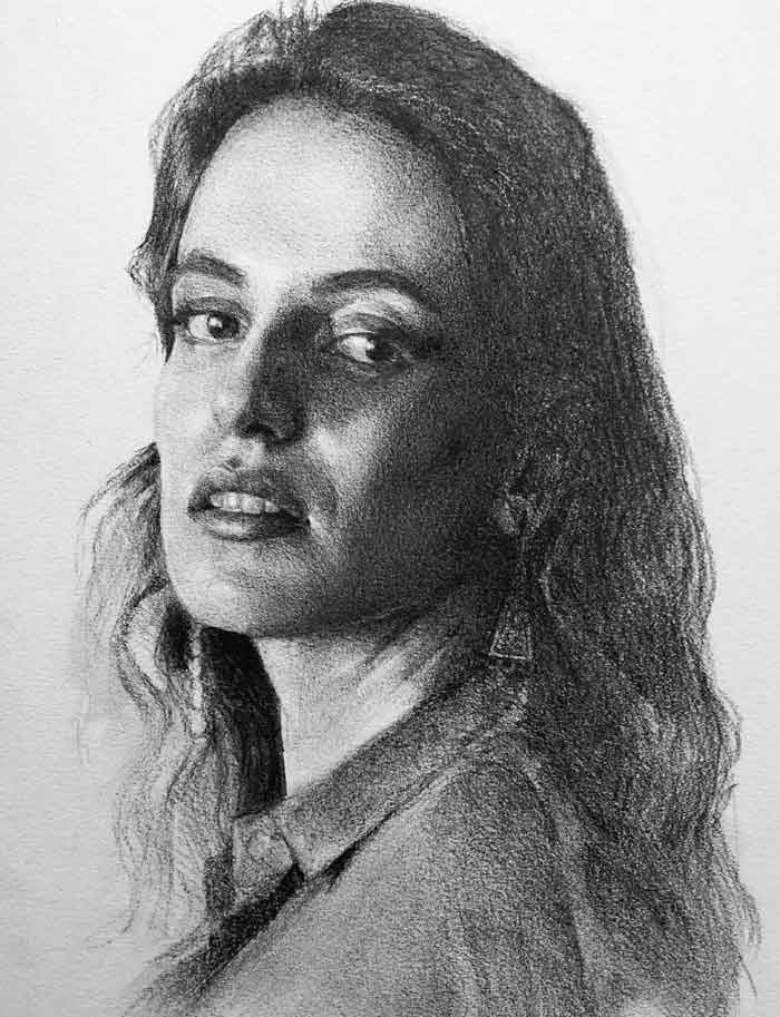 Contemporary Figurative Drawings by Miriam