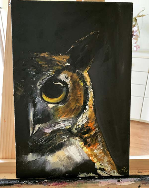 Oil Paintings on Canvas by Alisa Gurova