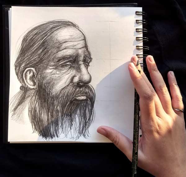 Charcoal Pencil Drawings by Ishani Kuwar