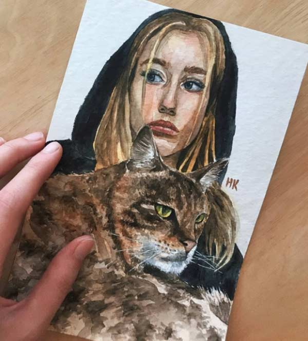 Painting Watercolor Portraits by Anastasia