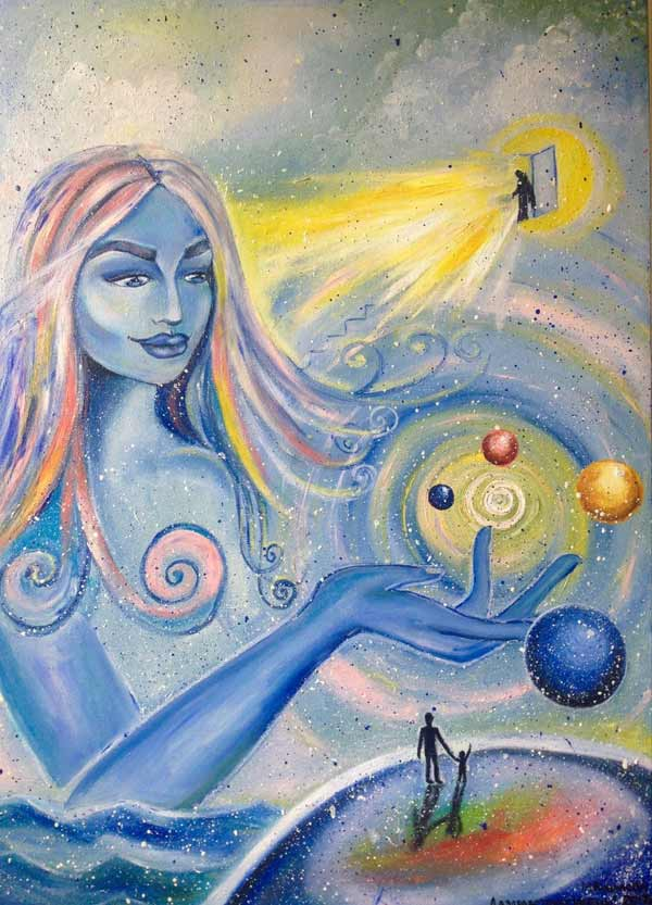 """""""Give life."""" canvas oil"""