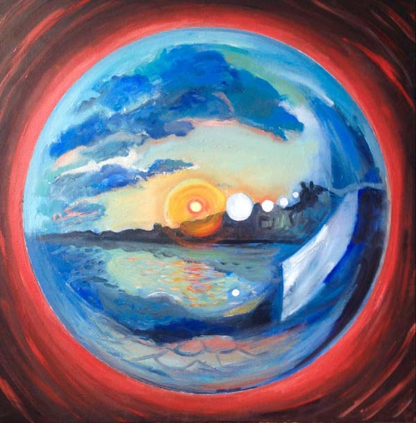 Sphere of life canvas oil