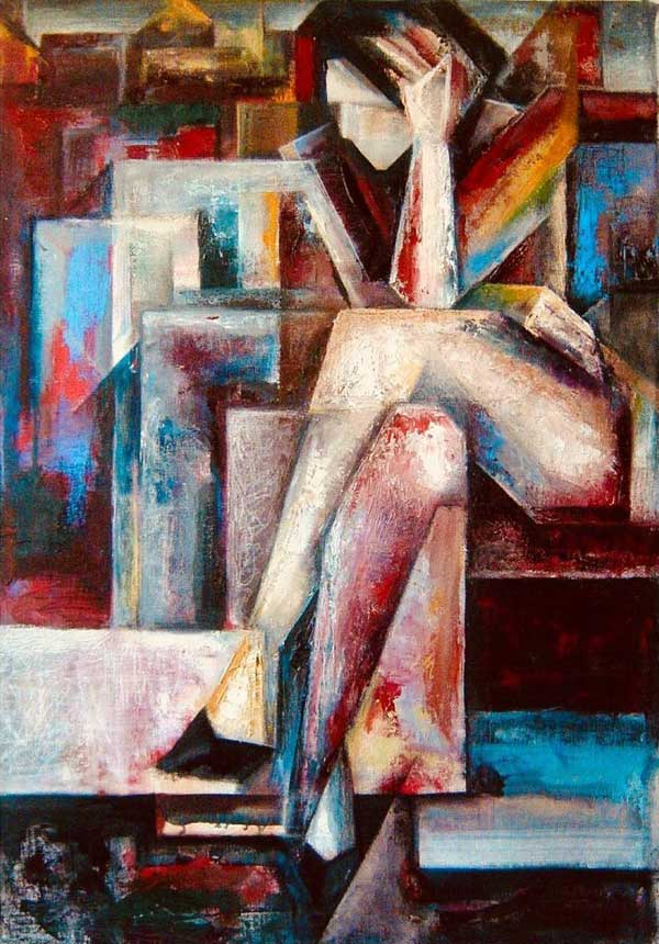 Cubism Acrylic Paintings on Canvas by Evren Temel