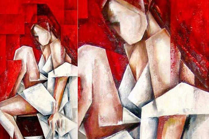 Cubism Oil Paintings on Canvas by Evren Temel