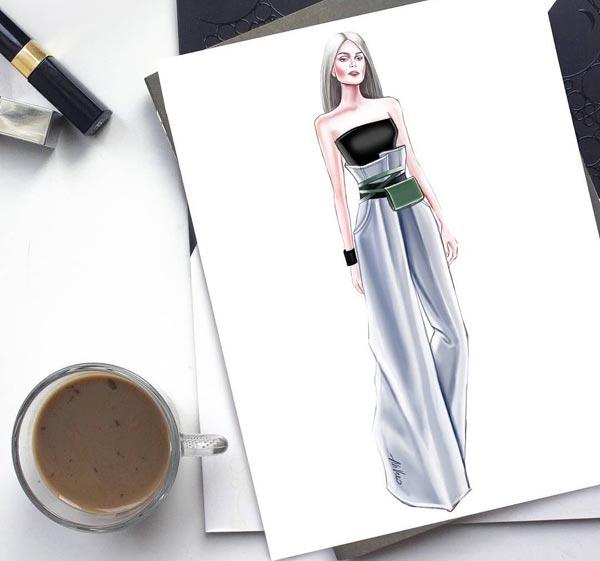 Digital Art Fashion Illustrations by Ahvero