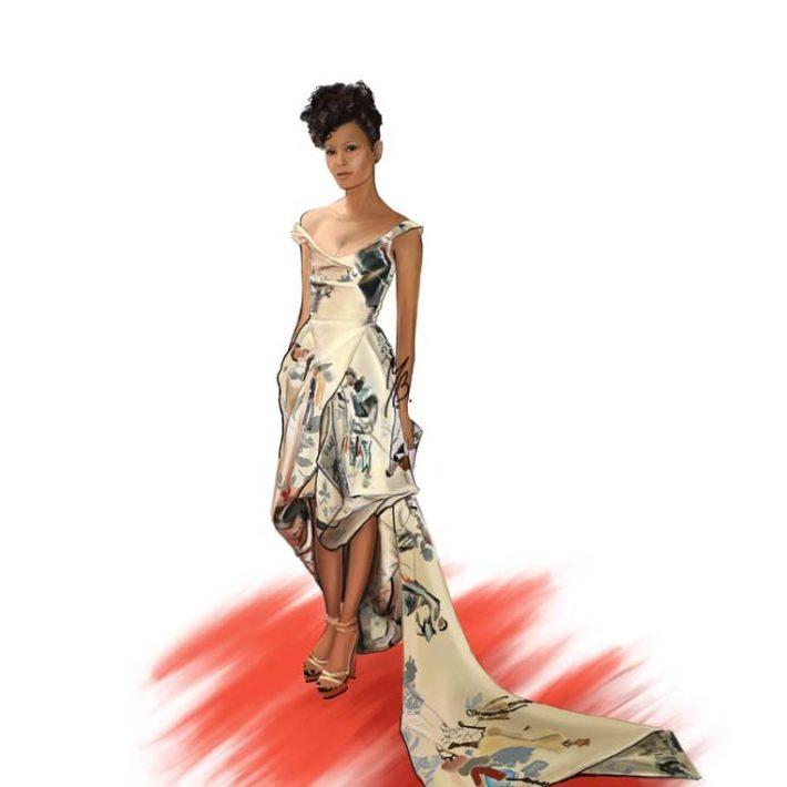 Modern Girl Fashion illustration Art by Marianna Bellini