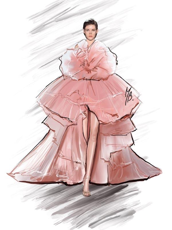 Modern Girl Fashion illustration Art