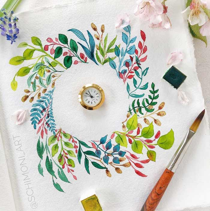 Watercolor Flowers Paintings by Monica Schick