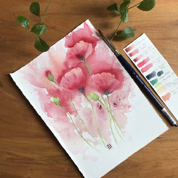 Watercolor Original Paintings on paper by Iyut