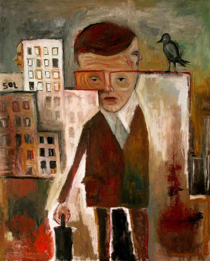 Acrylic Figurative Paintings of Lupo Sol