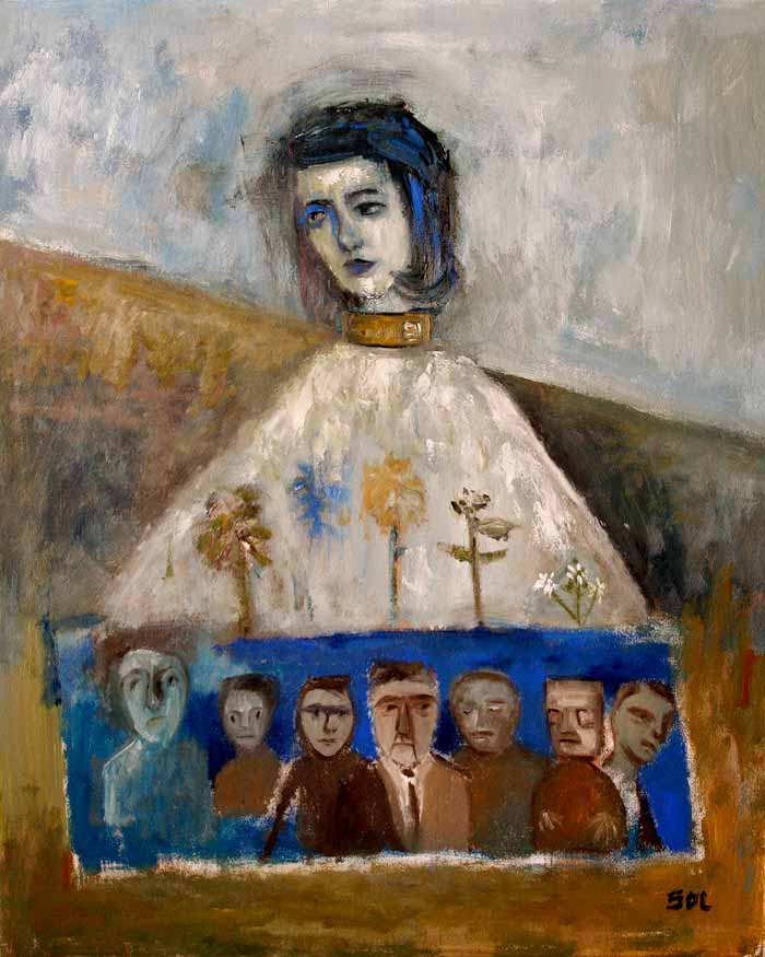 figurative painting, contemporary figurative painting, modern figurative painting by Lupo Sol