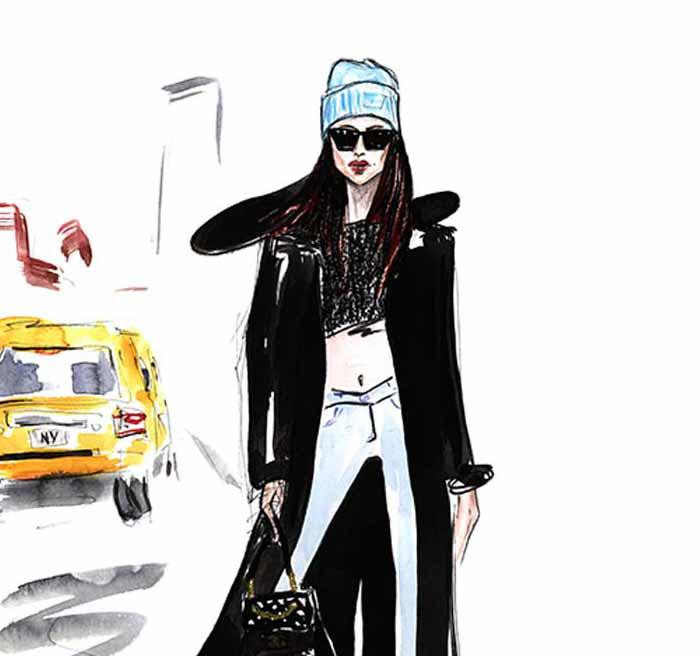 Watercolor Fashion Illustration by Alisa Maxime