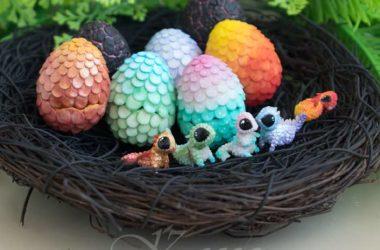 Handmade cute little polymer clay dragons