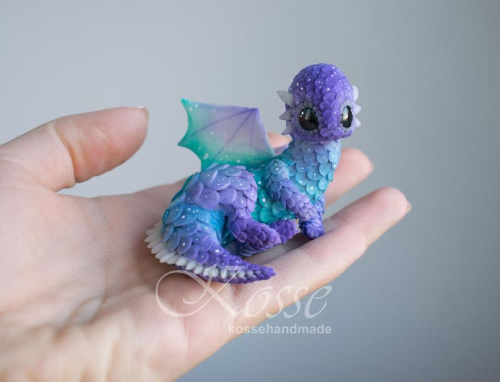 Cute Little Polymer Clay Dragons