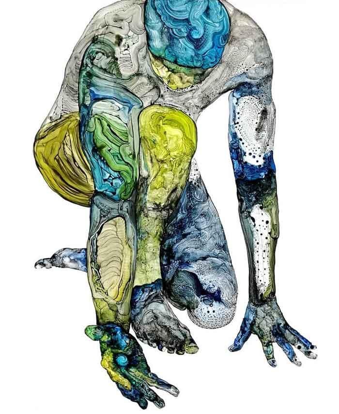 Inspired Mental Disability Paintings by David Deweerdt