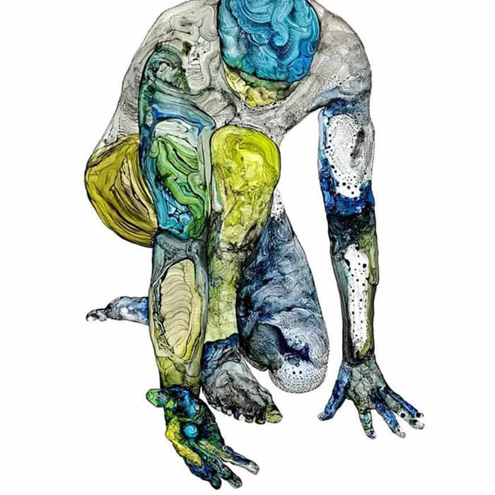 Human figure Contemporary Paintings by David Deweerdt