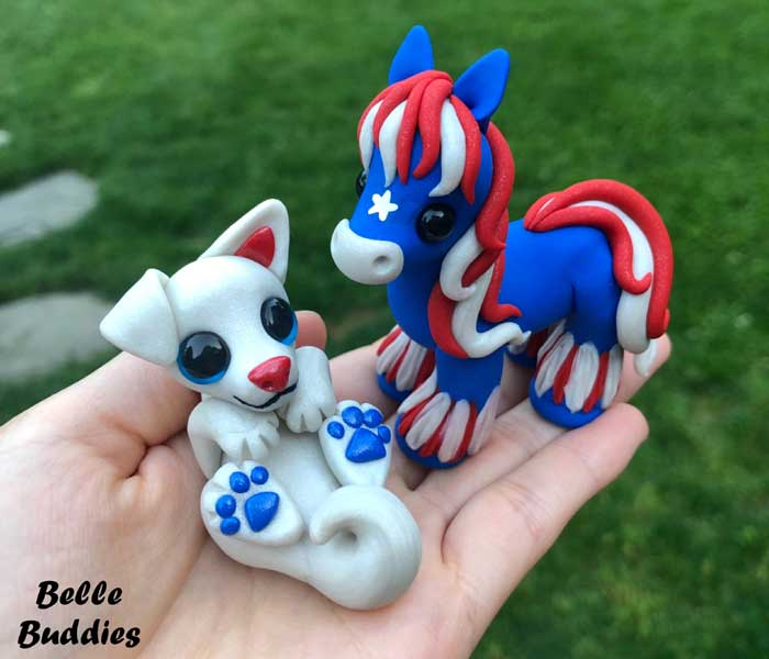 Handmade Polymer Clay Animal Sculptures