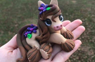 Handmade Polymer Clay Animal Sculptures