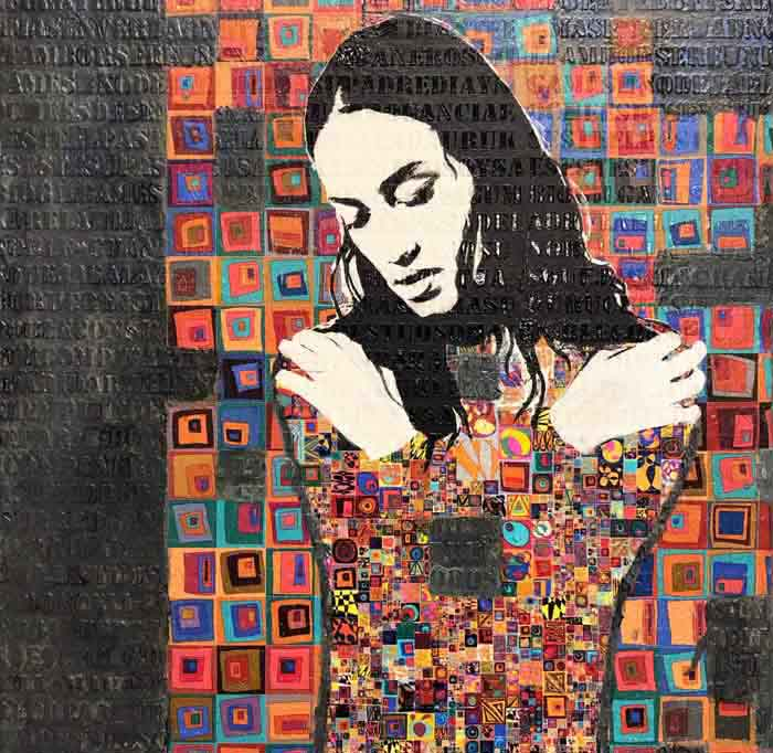 Modern Mosaic Paintings on Canvas by Jose Cacho