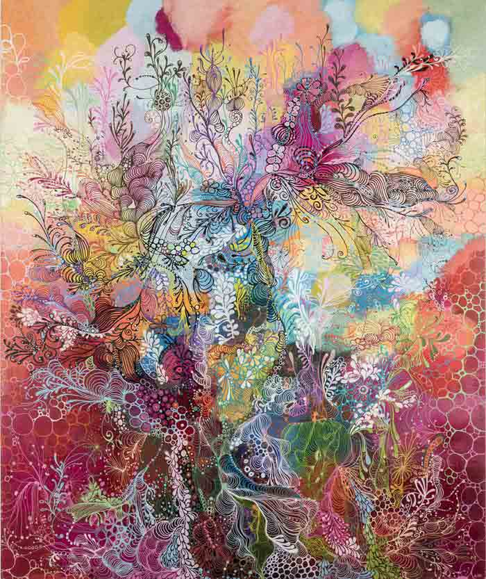 Abstract Decorative Art Acrylic Painting on Canvas nature