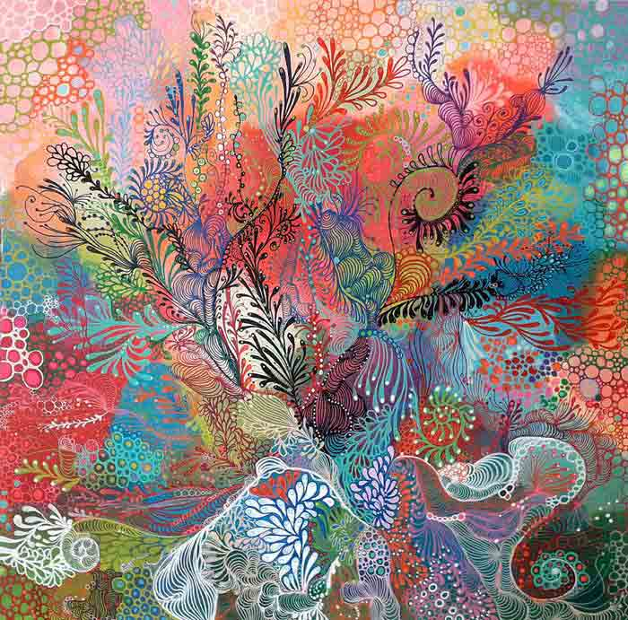 Abstract Decorative Art Acrylic Painting on Canvas sea
