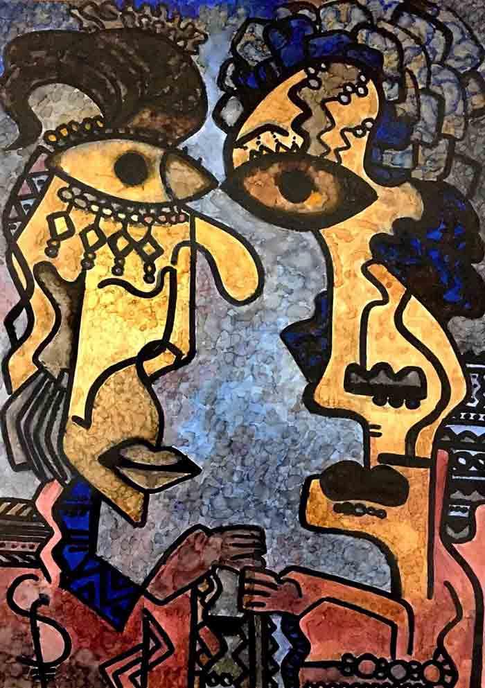 Sepideh Masroor - Modern Contemporary Cubism art