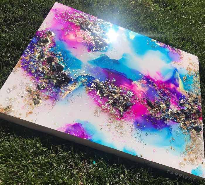 Abstract Fluid Art Techniques by Carrieaf