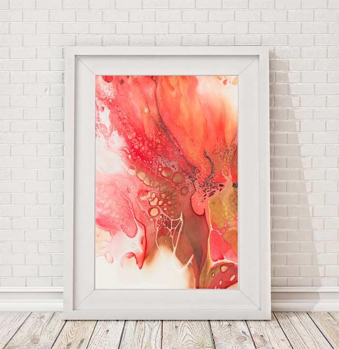 framed abstract art by Lottie OMara