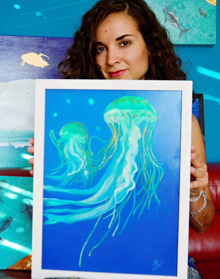 jellyfish painting by Artist Maria Elena Luciani