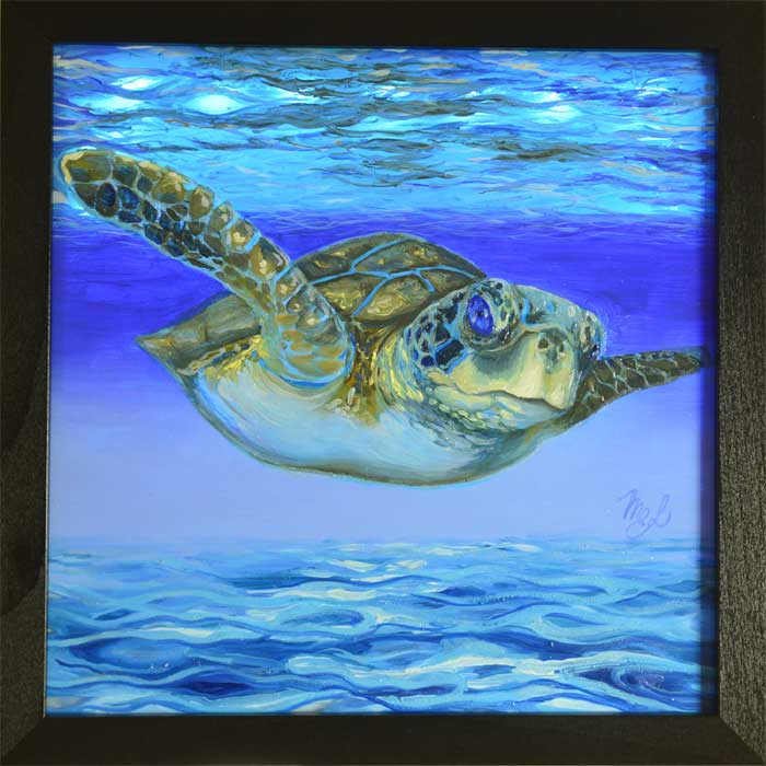 painting of a turtle by Artist Maria Elena Luciani