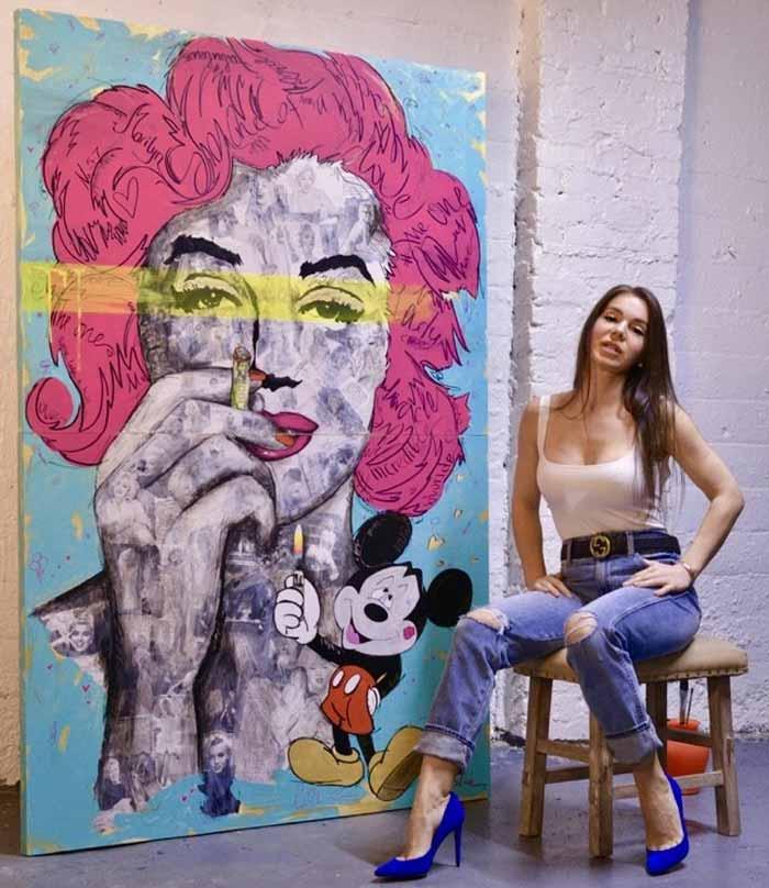 Pop Art Mixed Media Paintings