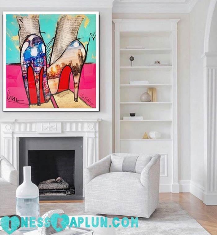 New York Style Pop Art Mixed Media Paintings