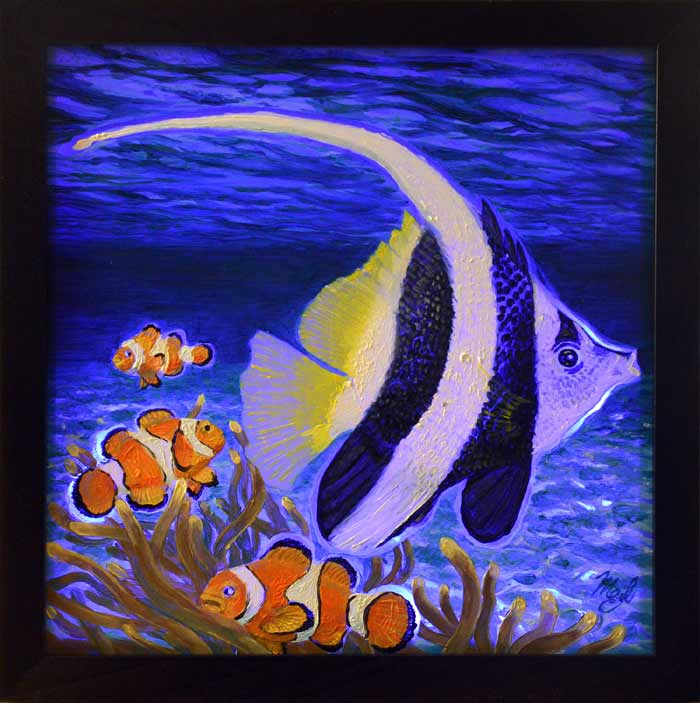 Sealife painting by Artist Maria Elena Luciani