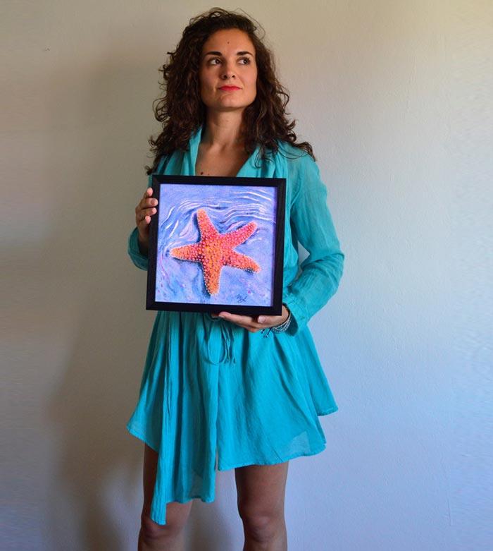 starfish painting by Artist Maria Elena Luciani