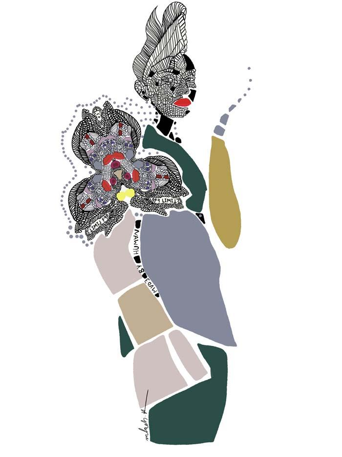 Fashion illustrations of Melody Hesaraky