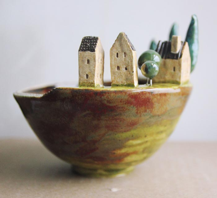 Handcrafted ceramic sculptures by Aigul Aktaeva
