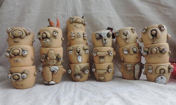 Alex Mrachkovskiy's inspired work Clay Face Mug