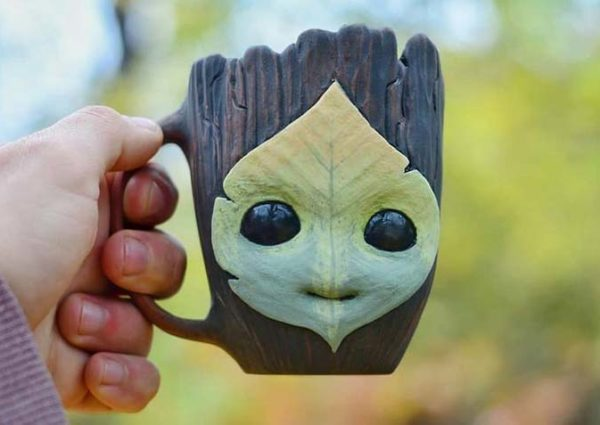 Pottery Fun Face Mug