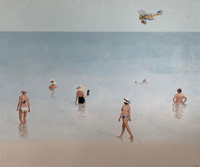 Joanna Pilkowska - Summer Beach Oil Paintings On Canvas