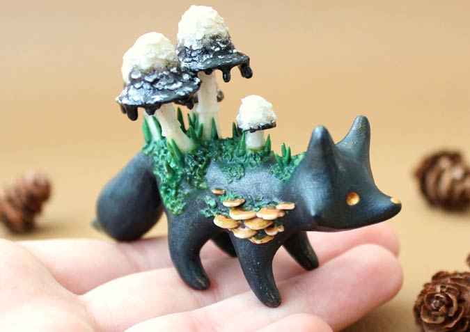 Whimsical Animals In Polymer Clay