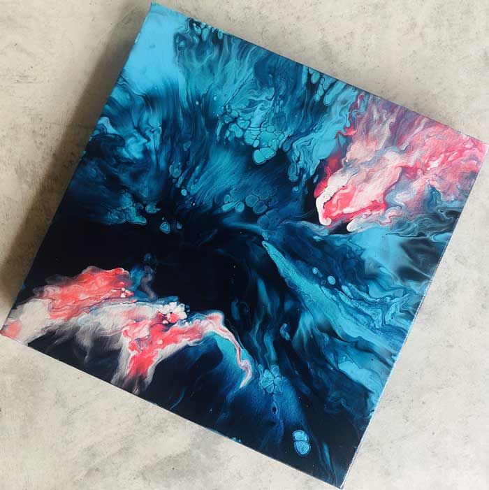 Acrylic Pouring Techniques - Abstract Fluid art Paintings by Sandra Delaey