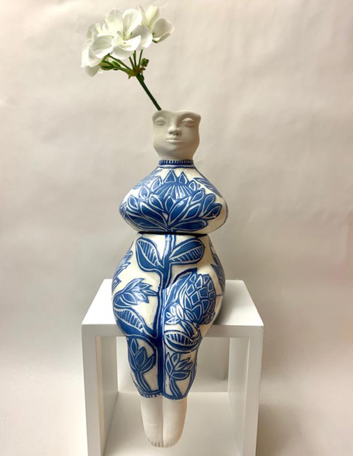 Marianne's Handmade Ceramic Plant Pots In The Female Form