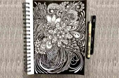 Black and White Flower Design Hand-Drawn Illustrations