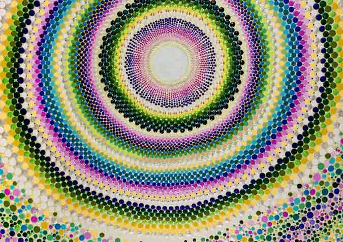Amy Diener's Beautiful Mandala Design Dot Art Paintings with Acrylic Paint