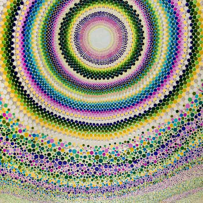 Mandala dot art aboriginal dot painting with Acrylic Paint