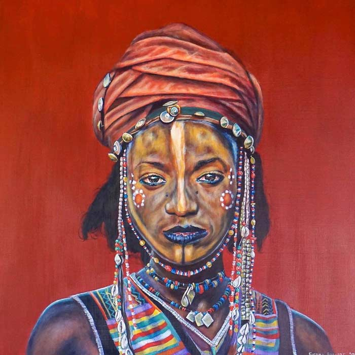 african woman portrait painting by Sierra Roberts
