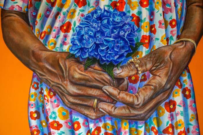 Vibrant blue hydrangea by Sierra Roberts