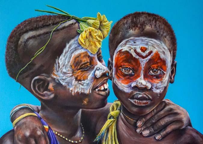 Inspired tribal portrait