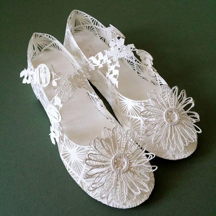 Alice's shoes rosayoo paper sculpture art